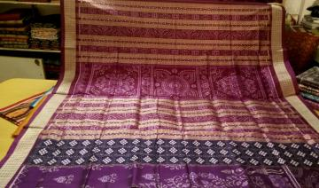Pasapalli and Ikat work Exclusively Woven Silk Saree with Blouse Piece
