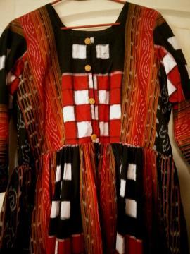 Maxi Dress in Cotton Bichitrapuri Fabric