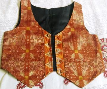 Silk Ikat work Waistcoat