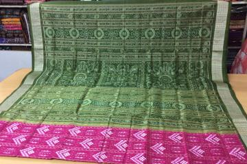 Tribal and Pasapalli ikat Silk Saree with Blouse Piece