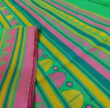 Cotton dongria Saree in Green