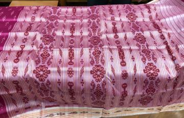 Traditional all over ikat Khandua Silk Saree without blouse