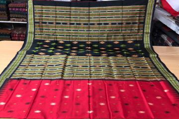Tribal Bomkai Silk Saree with blouse Piece