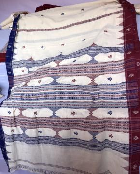 Ganga Jamuna Border Fish and Temple Motifs Cotton Kotpad Saree